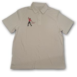 Tiger Woods Buckets Athletic Golf Polo Shirt White